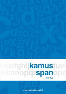 Sampul buku Kamus SPAN Ver 1.0 (2012).