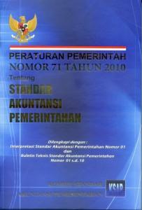 Cover Peraturan Pemerintah Nomor 71 Tahun 2010 tentang Standar Akuntansi Pemerintahan yang diterbitkan oleh Komite Standar Akuntansi Pemerintahan (KSAP).