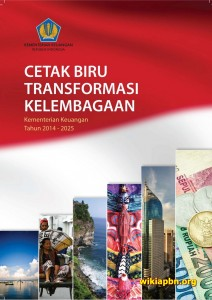 Cover Cetak Biru Program Transformasi Kelembagaan Kementerian Keuangan Tahun 2014-2025